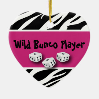 Zebra Animal Print WIld Bunco Player Christmas Ornament