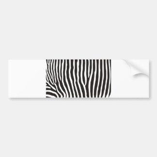 zebra animal skin print bumper stickers
