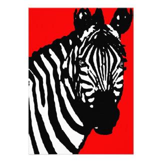 zebra announcements / invitations