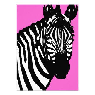 zebra announcements invitations