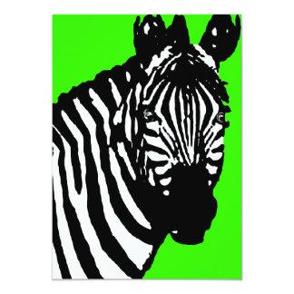 """zebra announcements / invitations 5"""" x 7"""" invitation card"""