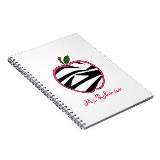 Zebra Apple Spiral Notebook For Teachers