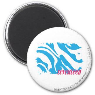 Zebra Aqua 4 6 Cm Round Magnet