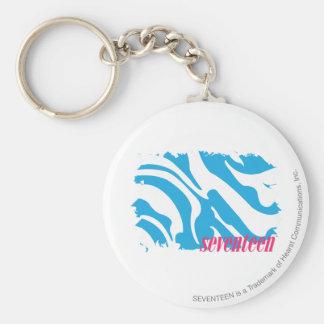 Zebra Aqua 4 Key Ring