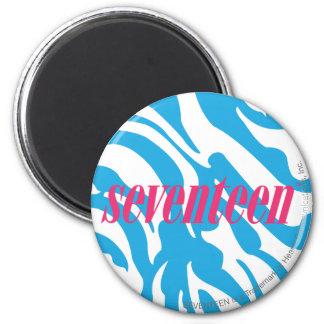 Zebra Aqua 6 Cm Round Magnet