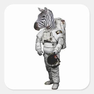 Zebra Astronaut Sticker