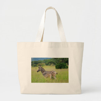 Zebra baby and mom jumbo tote bag