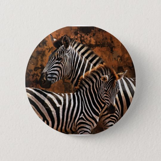 Zebra baby art 6 cm round badge