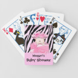 Zebra Baby Shower Playing Card Pink White Deck Of Cards