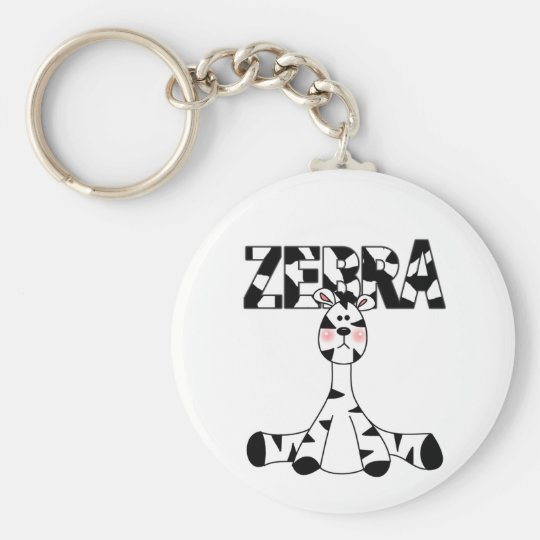 Zebra Baby Tshirts and Gifts Basic Round Button Key Ring