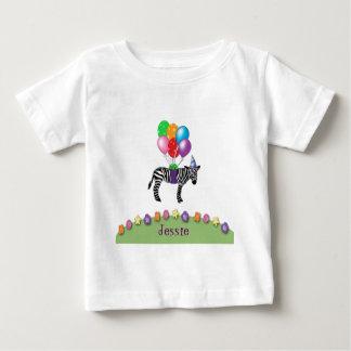zebra birthday tee shirts