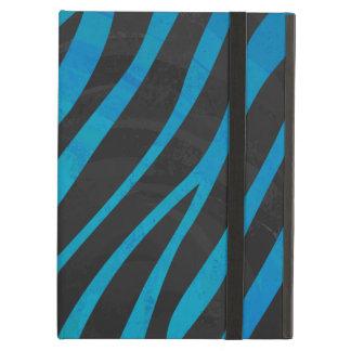 Zebra Black and Blue Print iPad Air Case