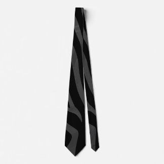 Zebra Black and Gray Print Tie