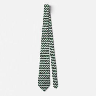 Zebra Black and Green Print Tie