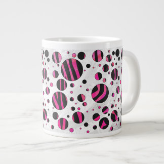 Zebra Black and Hot Pink Print Extra Large Mug