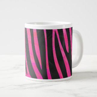 Zebra Black and Hot Pink Print Jumbo Mug