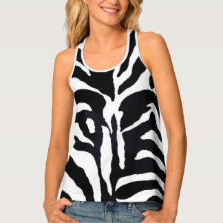 Zebra Black and White Animal Print Fashion Shirt Tank Top