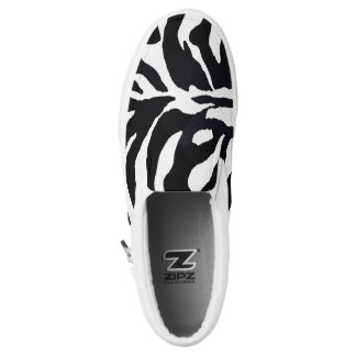 Zebra Black and White Slip On Sneaker Africa
