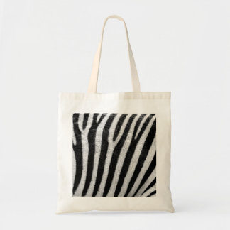 Zebra Black and White Striped Skin Texture Templat Budget Tote Bag