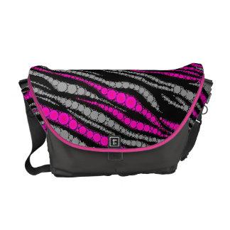 Zebra Bling Rickshaw Messenger bags