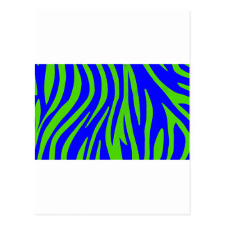 Zebra Blue and Green Abstract Art Post Cards