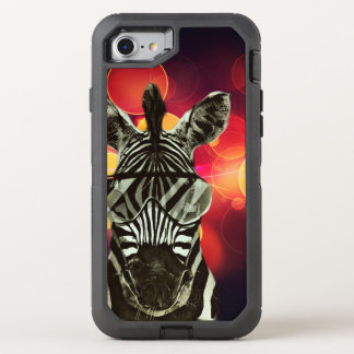 Zebra Bokeh Style OtterBox Defender iPhone 7 Case
