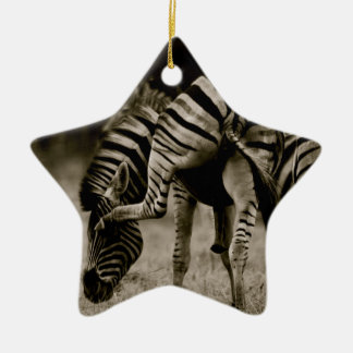 Zebra bottom christmas ornament