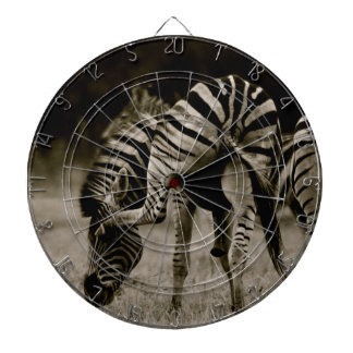 Zebra bottom dartboard
