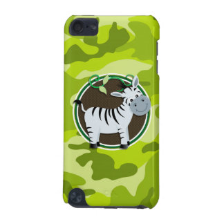 Zebra; bright green camo, camouflage iPod touch 5G cover