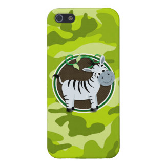 Zebra bright green camo camouflage cover for iPhone 5
