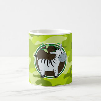 Zebra bright green camo camouflage mug