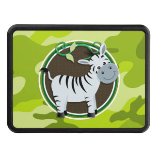 Zebra; bright green camo, camouflage tow hitch cover