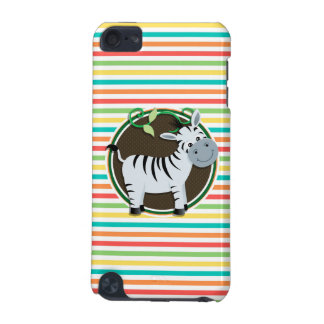 Zebra; Bright Rainbow Stripes iPod Touch (5th Generation) Covers