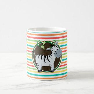 Zebra Bright Rainbow Stripes Coffee Mug