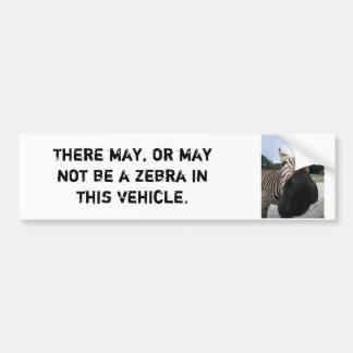 Zebra Bumper Sticker - Funny!