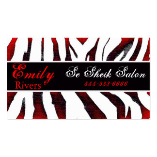 zebra Double-Sided standard business cards (Pack of 100)