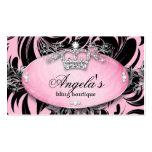 Zebra Business Card Jewellery Crown Pink
