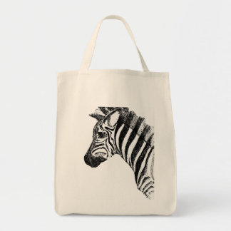 Zebra Canvas Bag