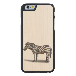 ZEBRA CARVED MAPLE iPhone 6 CASE