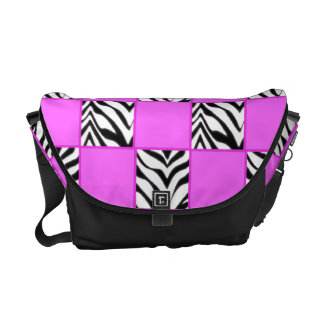 Zebra Check Rickshaw Messenger Bag