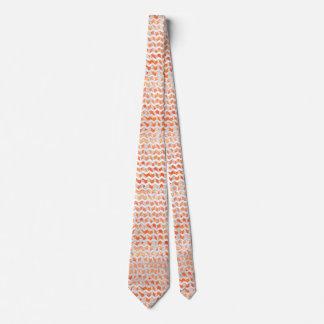 Zebra Chevron Orange and White Tie