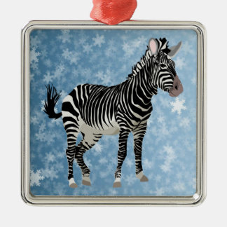 zebra christmas christmas ornament