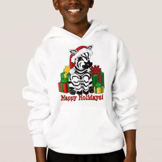 Zebra Christmas Hoodie