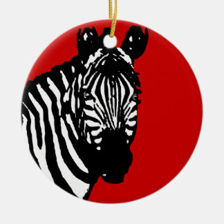zebra christmas ornament