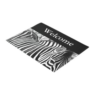 Zebra close up print - Welcome Doormat