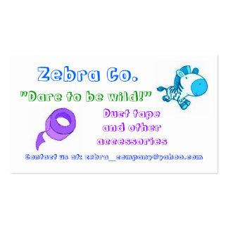 Zebra Co Business Cards 2