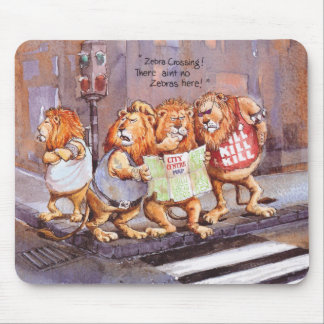 Zebra crossing mouse mat