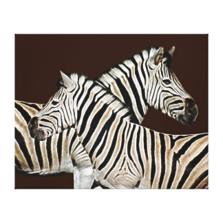 Zebra Crossing South Africa Canvas Print