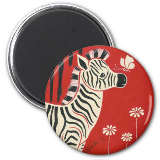Zebra Daisies Butterfly Magnets
