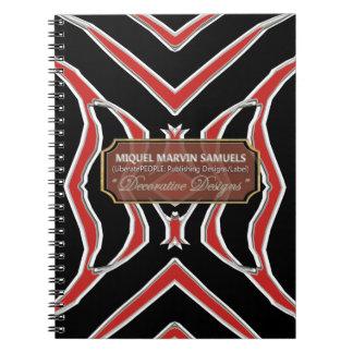 Zebra Decorative Red Black Modern Notebook